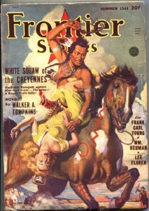 FRONTIER STORIES 1948-SUM-WHITE SQUAW OF THE CHEYENNES COVER ART-PULP