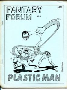 Fantasy Forum #1 1966-Diamond Pub-Bill Schelly-1st issue-Plastic Man-VF