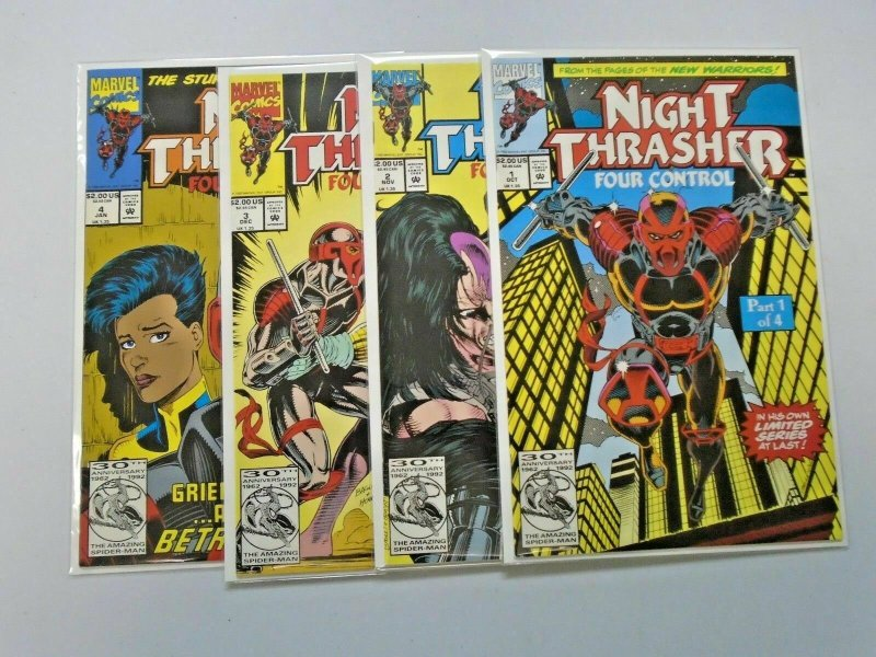 Night Thrasher Four Control, Set:#1-4, 8.0/VF (1992)
