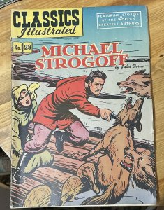 Classics Illustrated Michael Strogoff #28 2nd Printing (1946 Gilberton Co.)