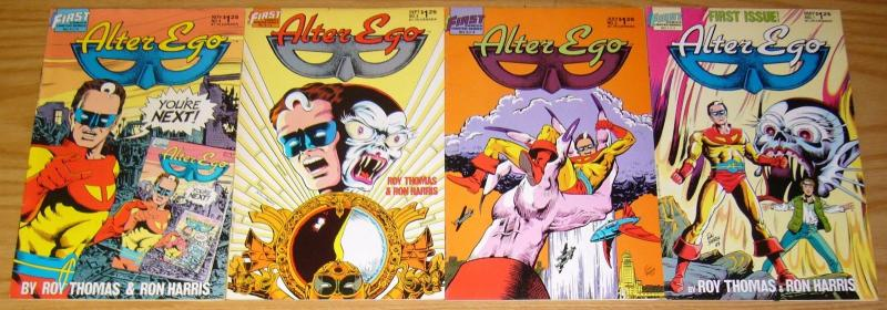 Alter Ego #1-4 VF/NM complete series ROY THOMAS ron harris 1986 FIRST COMICS 2 3