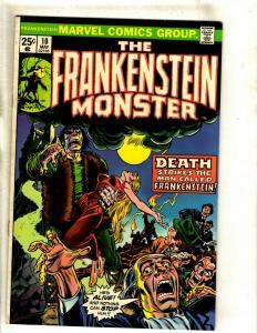 Monster Of Frankenstein # 10 FN/VF Marvel Comic Book Mike Ploog Cover Horror RS1