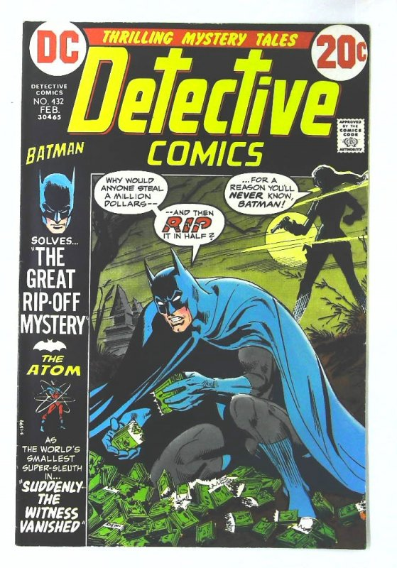 Detective Comics (1937 series) #432, VF- (Actual scan)