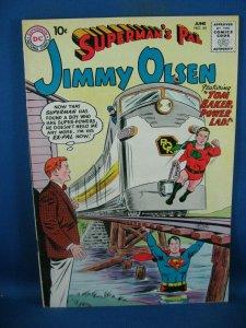 SUPERMAN PAL JIMMY OLSEN 45 VF+ POWER LAD 1960