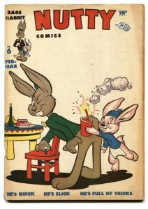 NUTTY #6 1947-RAGS RABBIT-HARVEY COMICS-Firecracker cover VG
