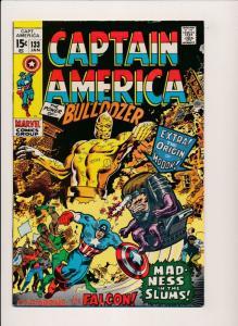 Marvel Captain America #133 Bulldozer, Modok origin 1971 ~ FN (PF138) Stan Lee