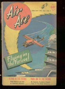 AIR ACE V.3 #3 1946-STREET & SMITH COMICS-AVIATION- VG