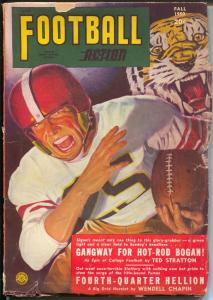 Football Action-Fall 1950-Popular-George Gross tiger cover-Mario De Marco-VG