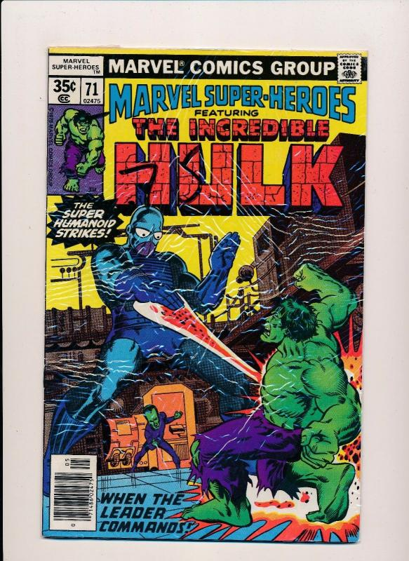 Marvel Super Heroes Featuring THE INCREDIBLE HULK #71/73/77 VG (SRU582)