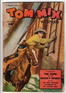Tom Mix Western #9 (Sep-48) VG Affordable-Grade Tom Mix