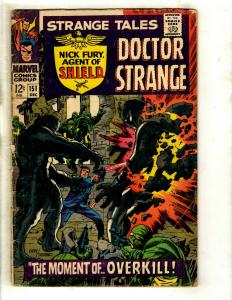Strange Tales # 151 VG Marvel Comic Book Doctor Strange Nick Fury Shield GK3