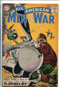 ALL-AMERICAN MEN OF WAR #87-1961-DC-SILVER AGE-JOHNNY CLOUD-WWII-vg+