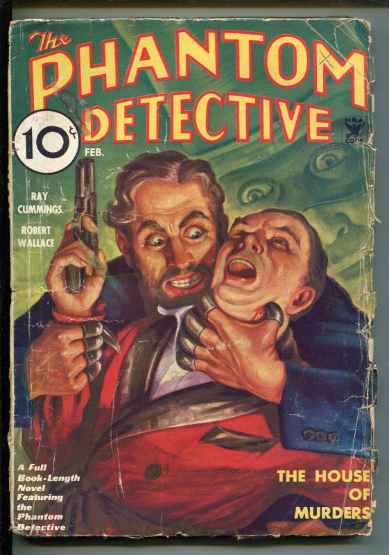 PHANTOM DETECTIVE  02/1964-TORTURE-CRIME-HERO PULP-good