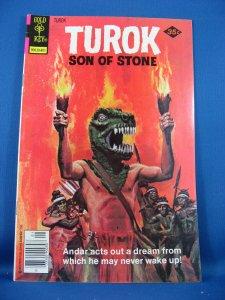 TUROK SON OF STONE 113 Fine VF  Gold Key 1978 Dinosaur Cover