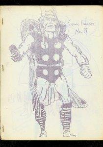 COMIC FANDOM FANZINE #3-1967-THOR-PLASTIC MAN-LADY LUCK VG
