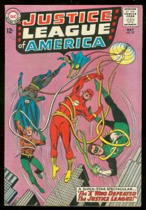 JUSTICE LEAGUE OF AMERICA #27 1964-BATMAN-GREEN LANTERN FN