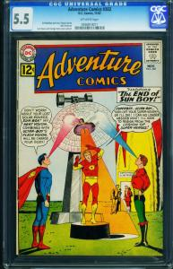 ADVENTURE  #302 CGC 5.5-1962-SUPERBOY-SUN BOY- 0936819011