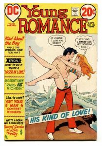 Young Romance #186 comic book 1972-DC-swim suit cover-spicy interior art