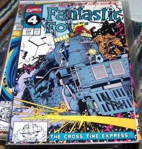 FANTASTIC FOUR #354 1991 Marvel  cross time express
