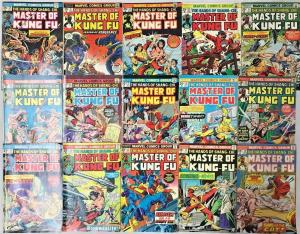 MASTER OF KUNG FU#20-100 VG-VF LOT 1974 (19 BOOKS) MARVEL BRONZE AGE COMICS