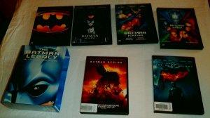 Batman Legacy box set + Batman Begins Dark Knight (set of 6 DVDs)