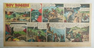 Roy Rogers Sunday Page by Al McKimson from 1/20/1952 Size 7.5 x 15 inches
