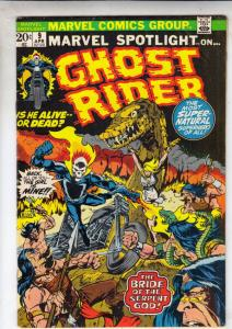 Marvel Spotlight on Ghost Rider #9 (Apr-73) FN/VF Mid-High-Grade Ghost Rider