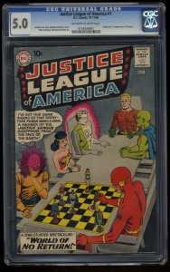 Justice League Of America #1 CGC VG/FN 5.0 Off White to White DC Comics