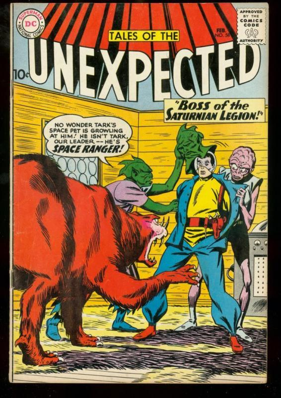 TALES OF THE UNEXPECTED #58 1961 DC SPACE RANGER SCI FI FN-