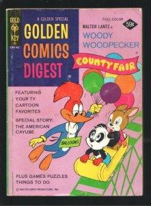 Golden Comics Digest #37 1974-Woody Woodpecker County Fair-Comics-puzzles-gam...