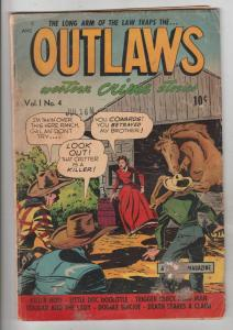 Outlaws of the West #4 (Aug-48) VG Affordable-Grade