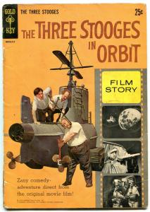 THREE STOOGES IN ORBIT FILM STORY-GOLD KEY PHOTO BOOK VG