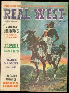 REAL WEST MARCH 1963-CHARLTON- F REMINGTON--DIME NOVELS FR/G