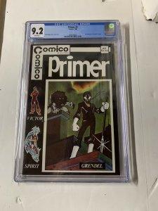 Comico Primer 2 Cgc 9.2 White Pages 1st Grendel Bronze Age