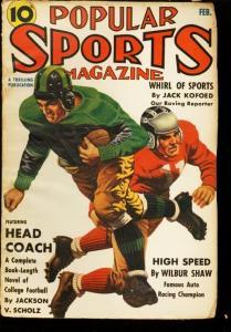 POPULAR SPORTS 1940 FEB FOOTBALL INDY 500 WILBUR SHAW FR/G