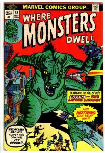 WHERE MONSTERS DWELL 28 VG May 1974