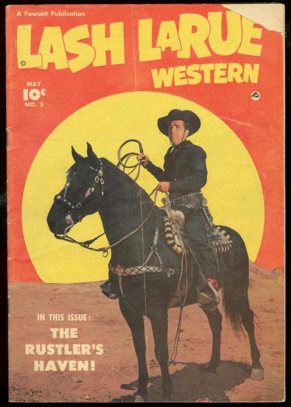 Lash Larue 5 1951 Photo Covers Fawcett Film Western G Hipcomic