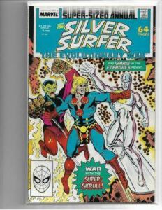 SILVER SURFER ANNUAL #1 - VF/NM - VOL. 3 - ETERNALS APP - COPPER AGE MARVEL
