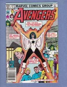 Avengers #227 NM- Captain Marvel Joins Avengers 1983
