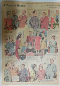 Vignettes Of Life by Kemp Starrett Humor ! 11/12/1939 Size: 15 x 22 inch