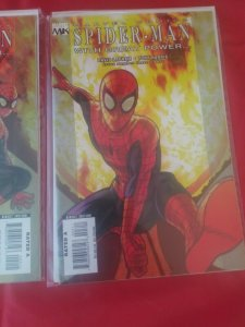 Lot of 3 MARVEL COMICS 2008 SPIDER-MAN WITH GREAT POWER #1 2 3 NM