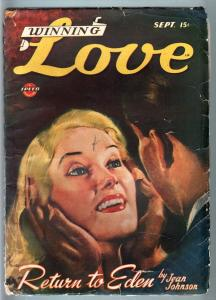 WINNING LOVE 1946 FEB-ROMANCE PULP-RARE-SPEED/SPICY G/VG