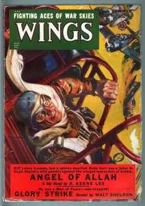 WINGS PULP-SUM 1949-GEORGE SAUNDERS ART-FICTION HOUSE VG+