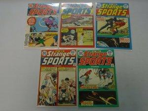 Strange Sports Stories near set #1- #6 avg 5.0 VG FN (1973)