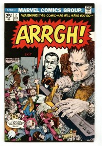 ARRGH! #2 VF 1975-VAMPIRE DRACULA FRANKENSTEIN WOLF MAN