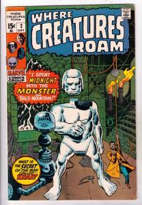 Where Creatures Roam #2 (Sep-70) VF High-Grade Khan