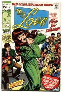 My Love #6 1970 Rare DOUBLE COVER-Marvel-Romance