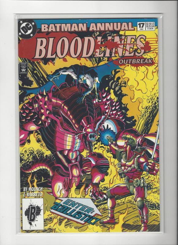 BATMAN ANNUAL #17 BLOODLINES DC COMICS NM