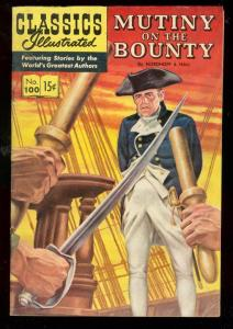 CLASSICS ILLUSTRATED #100 HRN 100-MUTINY ON THE BOUNTY FN