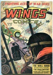 WINGS COMIC #36 1943-FICTION HOUSE-SKULL SQUAD-ZEPPELIN VG